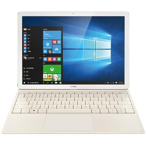 HUAWEI MateBook 12英寸平板二合一笔记本电脑 m5 4GB+128GB(香槟金)