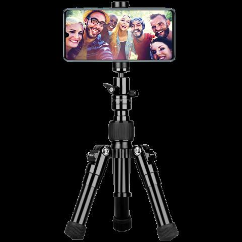 MOMAX 防抖自拍三脚架+自拍杆 短款42cm TRS5D(黑色)