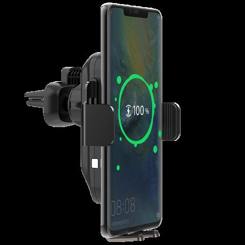 MOMAX 智能感应无线充电车载支架套装