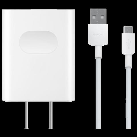 华为5V2A手机带线充电器(白色)
