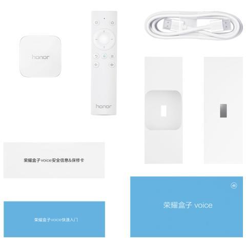 荣耀盒子voice 白色(语音搜片 真4K高清 网络机顶盒 安卓电视盒子 无线wifi 300M)
