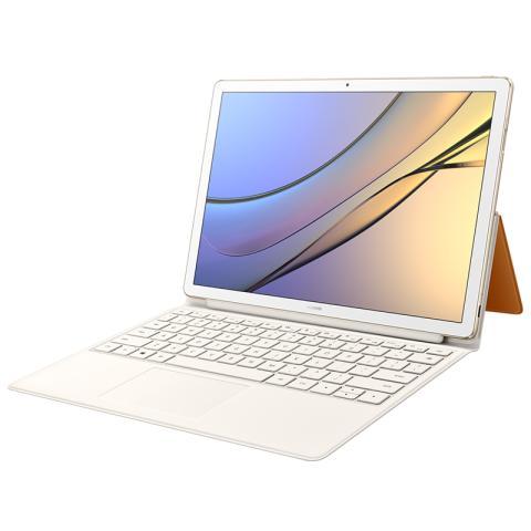 (华为)HUAWEI MateBook E 12英寸时尚二合一笔记本电脑(m3-7Y30 4G 128G Win10 内含键盘和扩展坞)香槟金主机/棕色键盘