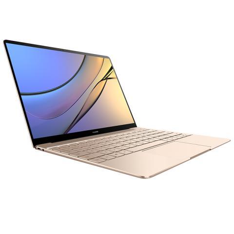 (华为)HUAWEI MateBook X 13英寸轻薄笔记本电脑(i7-7500U 8G 512G Win10 内含拓展坞)流光金