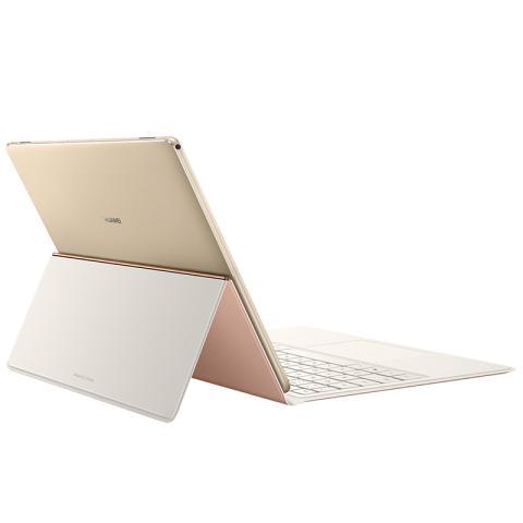 (华为)HUAWEI MateBook E 12英寸时尚二合一笔记本电脑(i5-7Y54  4G 256G Win10 内含键盘和扩展坞)香槟金主机/粉色键盘