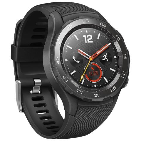 HUAWEI WATCH 2 华为第二代智能运动手表 4G版(碳晶黑)