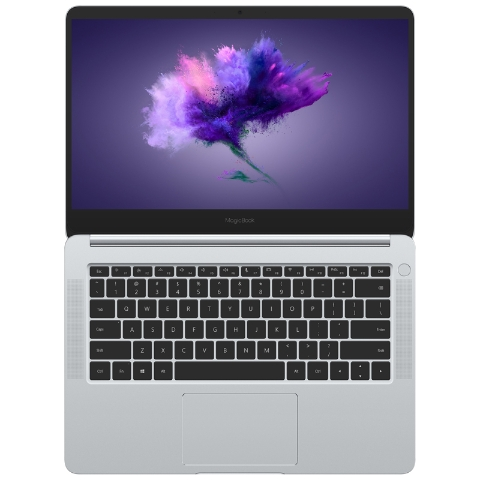 荣耀MagicBook 14英寸轻薄笔记本电脑 i7-8550U 8GB 256GB 独显(冰河银)