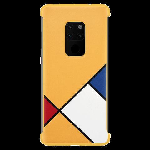HUAWEI Mate 20 抽象主题保护壳 (黄色)