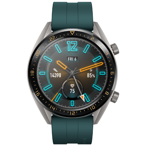 HUAWEI WATCH GT 活力款(墨绿)华为智能手表 两周续航 高清彩屏 NFC支付 实时心率 精准定位 户外运动手表