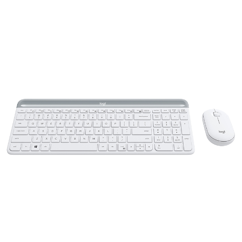 罗技MK470键鼠套装 无线全尺寸键鼠套装  白色