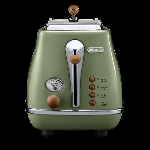Delonghi/德龙 复古早餐系列多士炉 CTO2003 橄榄绿