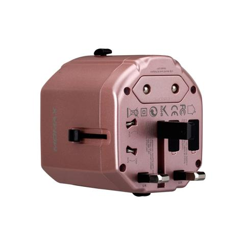 摩米士 Momax UA1旅行充电器(玫瑰金)