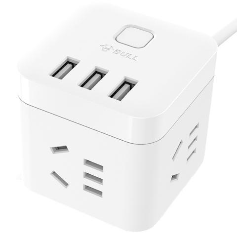 公牛魔方USB插座 有线版(白色)