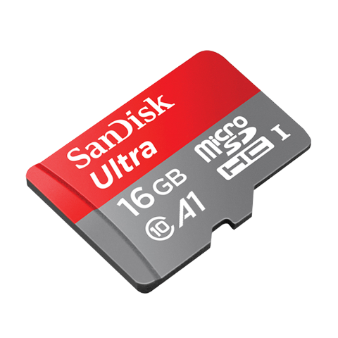 闪迪 SanDisk内存卡ClASS10高速存储TF卡读取速度98MB/秒16G(红灰色)