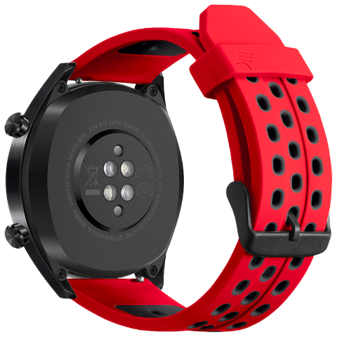 BRASPORT 双色硅胶表带(红色 + 黑色)