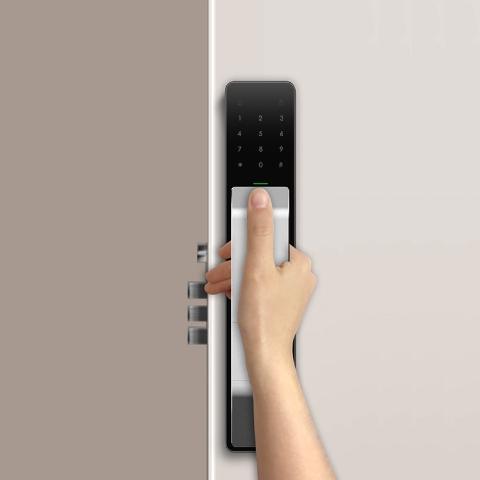 品多(PINTOS)全自动智能指纹门锁M1 亚光银(支持HUAWEI HiLink)